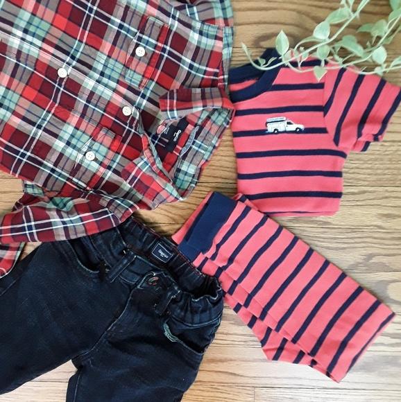03037b83d Boy s Spring Bundle Gap   Carter s Outfit and PJ s